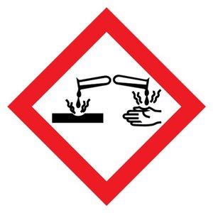 "GHS-05 pictogram ""corrosief"" (bijtende stoffen)"