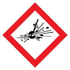 """GHS-01 pictogram """"explosieve stoffen"""" sticker (ontplofbare stoffen)"""