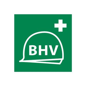 Sticker BHV- bedrijfshulpverlener