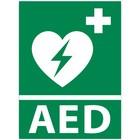 Vluchtwegaanduiding AED apparaat met tekst