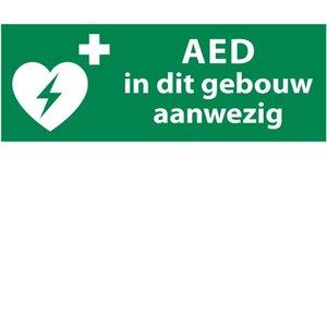 Nooduitgang sticker AED apparaat gebouw