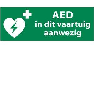 Nooduitgang sticker AED apparaat vaartuig