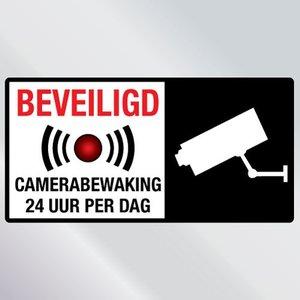 Beveiligingssticker Camerabewaking 24 uur per dag