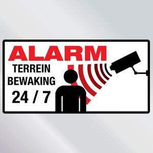 Beveiligingssticker Alarm! Terreinbewaking 24 uur