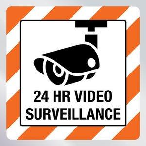 Beveiligingssticker video surveillance 24 uur
