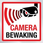 Beveiligingssticker camera bewaking