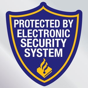 Beveiligingssticker protected by electronic security