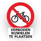 verboden rijwielen te plaatsen - tekst