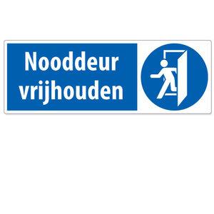 Sticker 'Nooddeur vrijhouden'