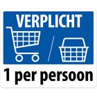Winkelwagen / winkelmandje verplicht