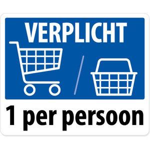 "pictogram ""Winkelwagen / winkelmandje verplicht"" sticker"