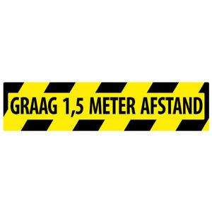 "pictogram ""houd 1,5 meter afstand"" sticker"
