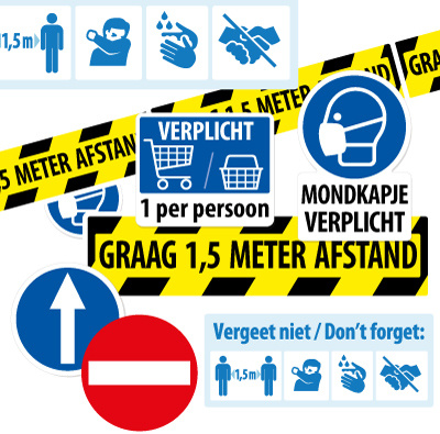 Corona preventie stickers