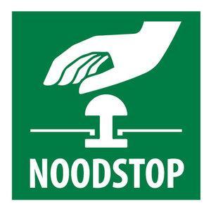 Sticker Noodstop icoontje