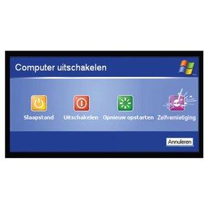 """pictogram """"computer zelfvernietiging"""" sticker"""
