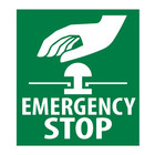 Emergency Stop sticker