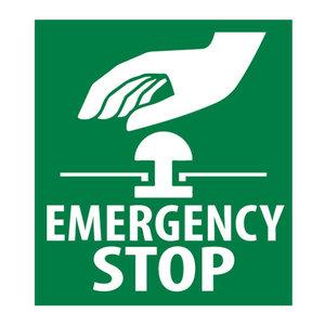 Sticker Noodstop icoontje - Emergency Stop