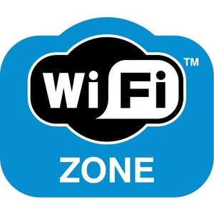 "Sticker ""WiFi zone"" pictogram"