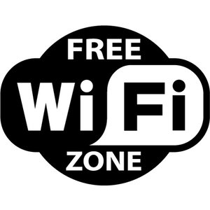 "Sticker ""free WiFi zone"" pictogram"