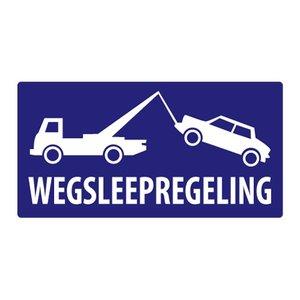 Wegsleepregeling pictogram sticker