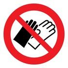 verboden handschoenen te dragen