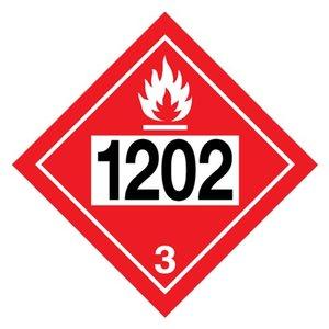 "ADR-3.0 UN1202 pictogram ""ontvlambare vloeistof"""