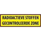 RADIOACTIEVE STOFFEN GECONTROLEERDE ZONE sticker