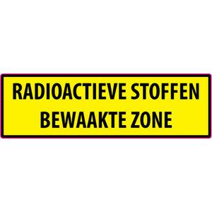 """pictogram """"RADIOACTIEVE STOFFEN BEWAAKTE ZONE"""" sticker"""