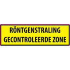 RÖNTGENSTRALING GECONTROLEERDE ZONE sticker
