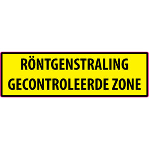 "pictogram ""RÖNTGENSTRALING GECONTROLEERDE ZONE"" sticker"