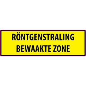 "pictogram ""RÖNTGENSTRALING BEWAAKTE ZONE"" sticker"