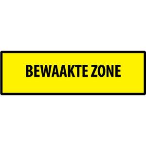 """pictogram """"BEWAAKTE ZONE"""" sticker"""