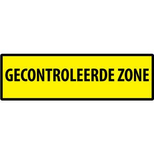 """pictogram """"GECONTROLEERDE ZONE"""" sticker"""