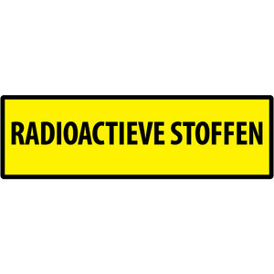 "pictogram ""RADIOACTIEVE STOFFEN"" sticker"