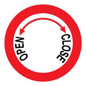 "pictogram ""Afsluiter open / close"" sticker"