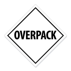 "ADR-Overpack pictogram ""OVERPACK"""