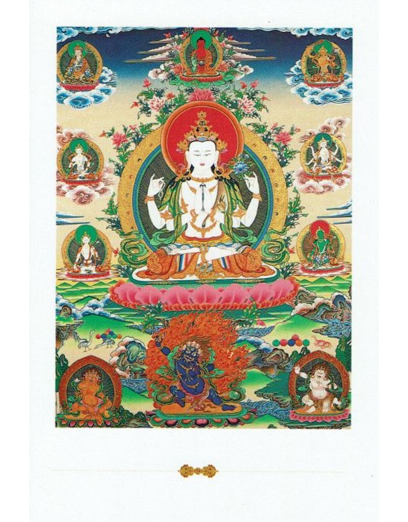 Dakini postkaart Avalokiteshvara