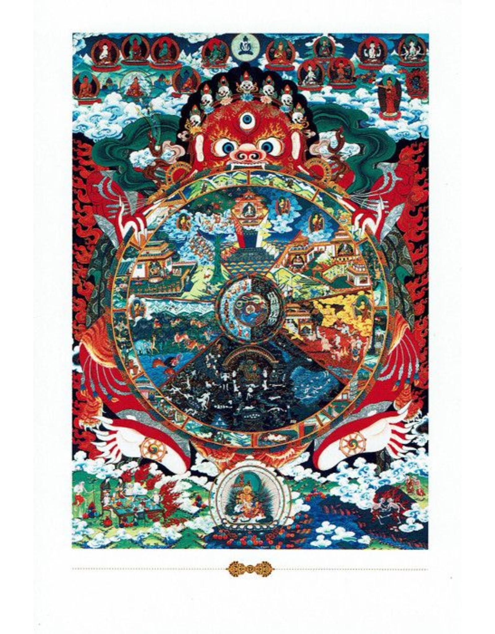 Dakini postkaart Levenswiel