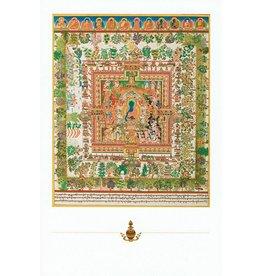 Dakini postcard Medicine Buddha mandala
