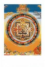 Dakini postcard Kalachakra mandala