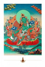 Dakini postcard Green Tara