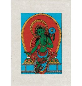 Dakini greeting card Green Tara