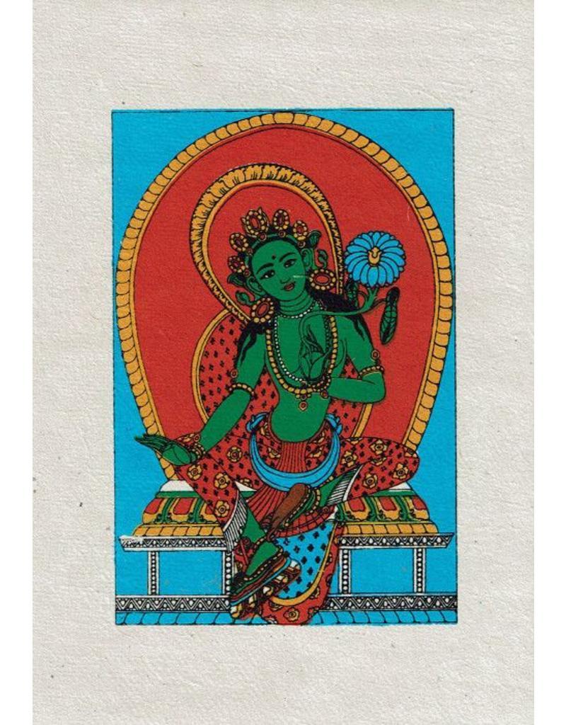 Dakini greeting card Green Tara