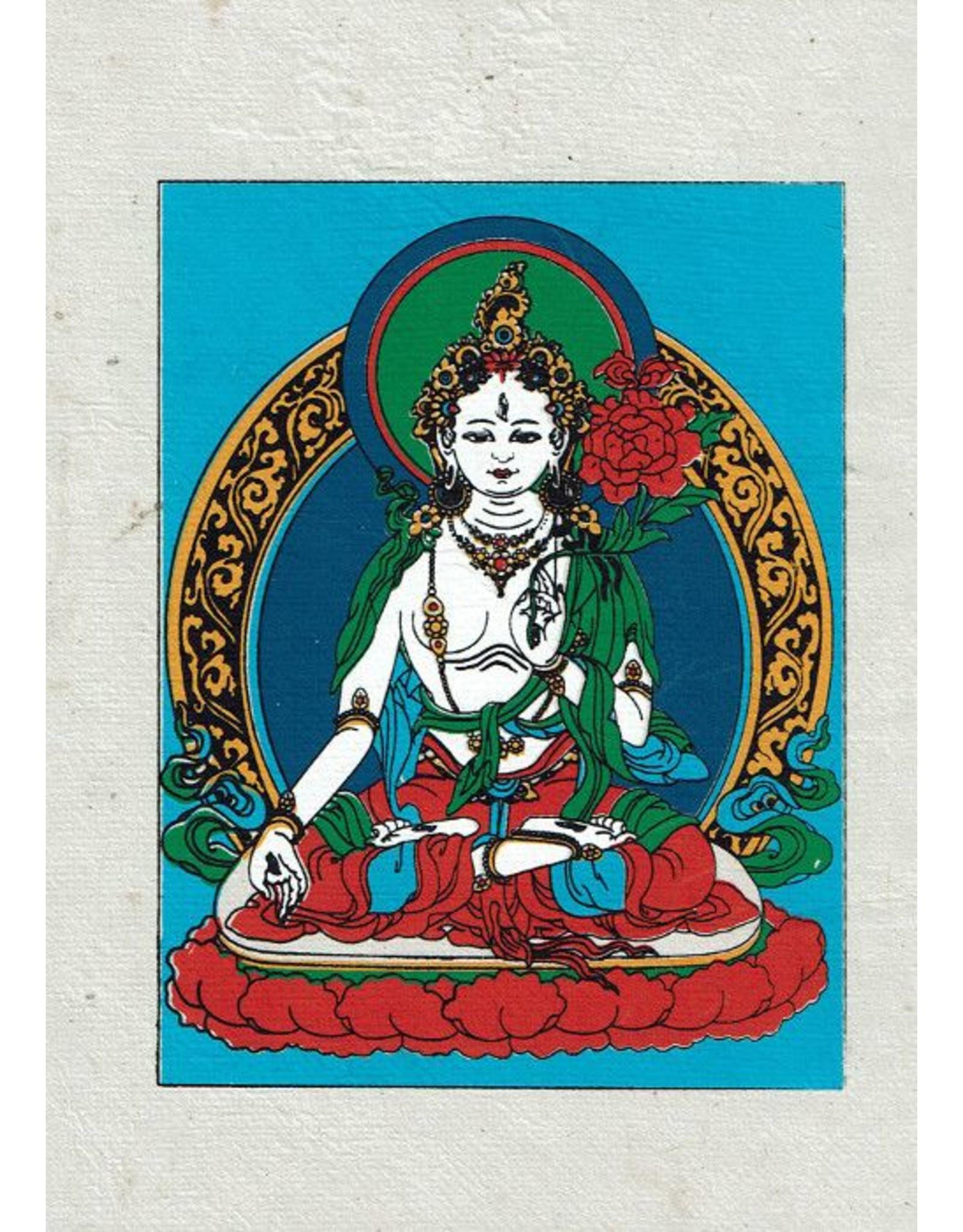 Dakini Greeting card White Tara