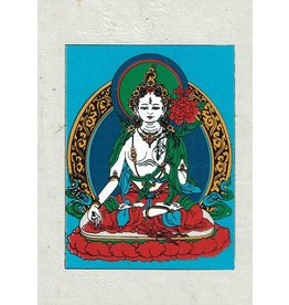 Dakini greeting card White Tara