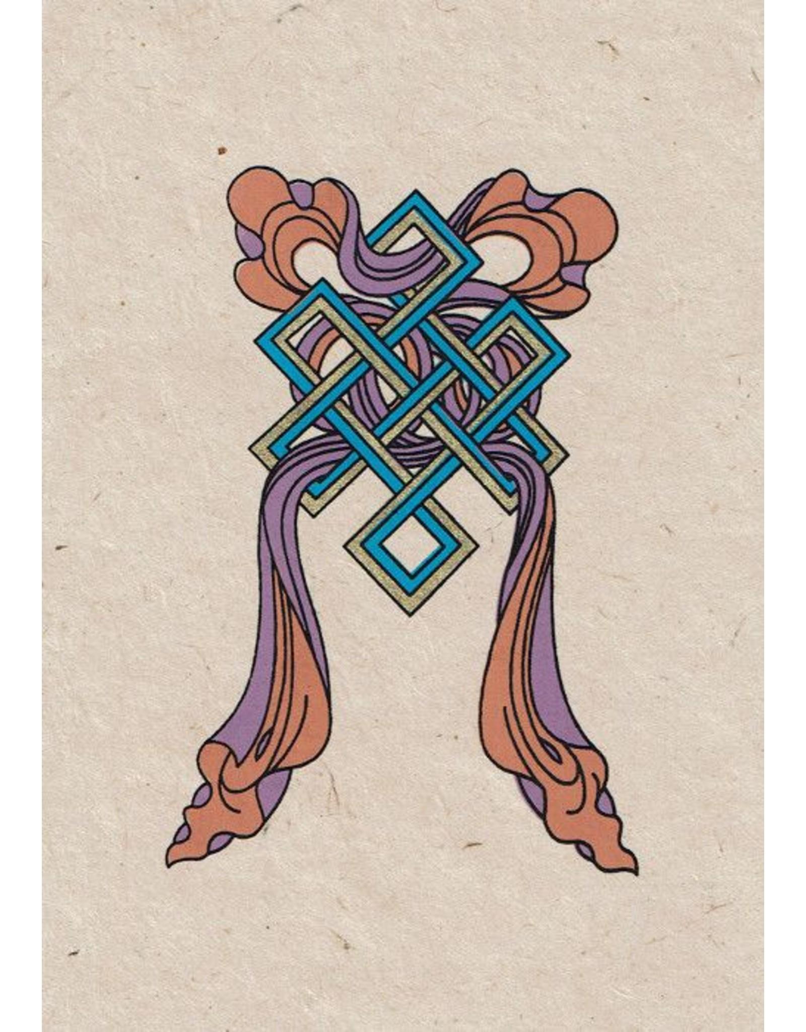 Dakini greeting card The endless knot