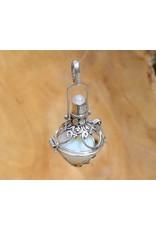 Gemstone holder pendant Bottle 12 mm