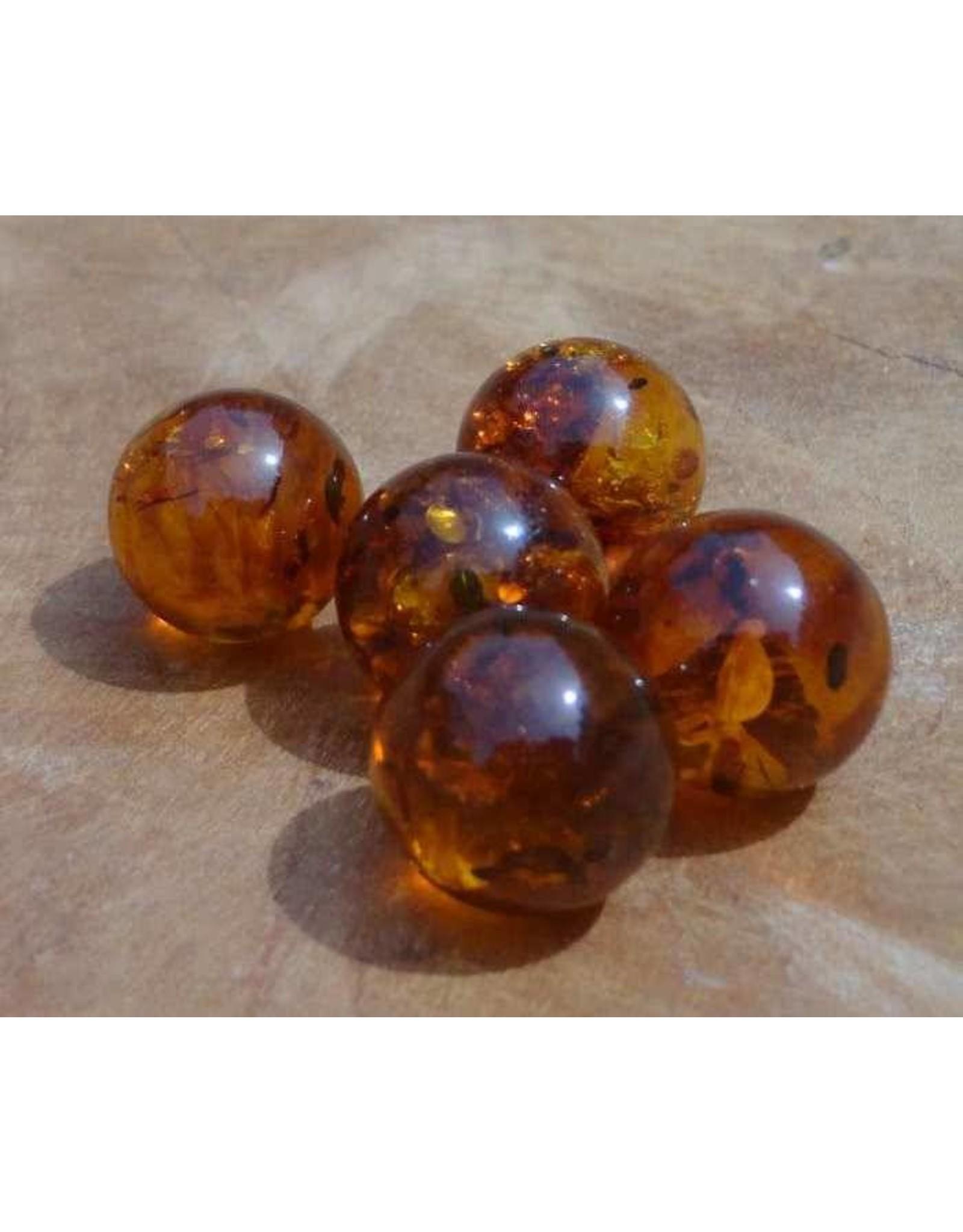 Interchangeable gemstone Amber 12 mm