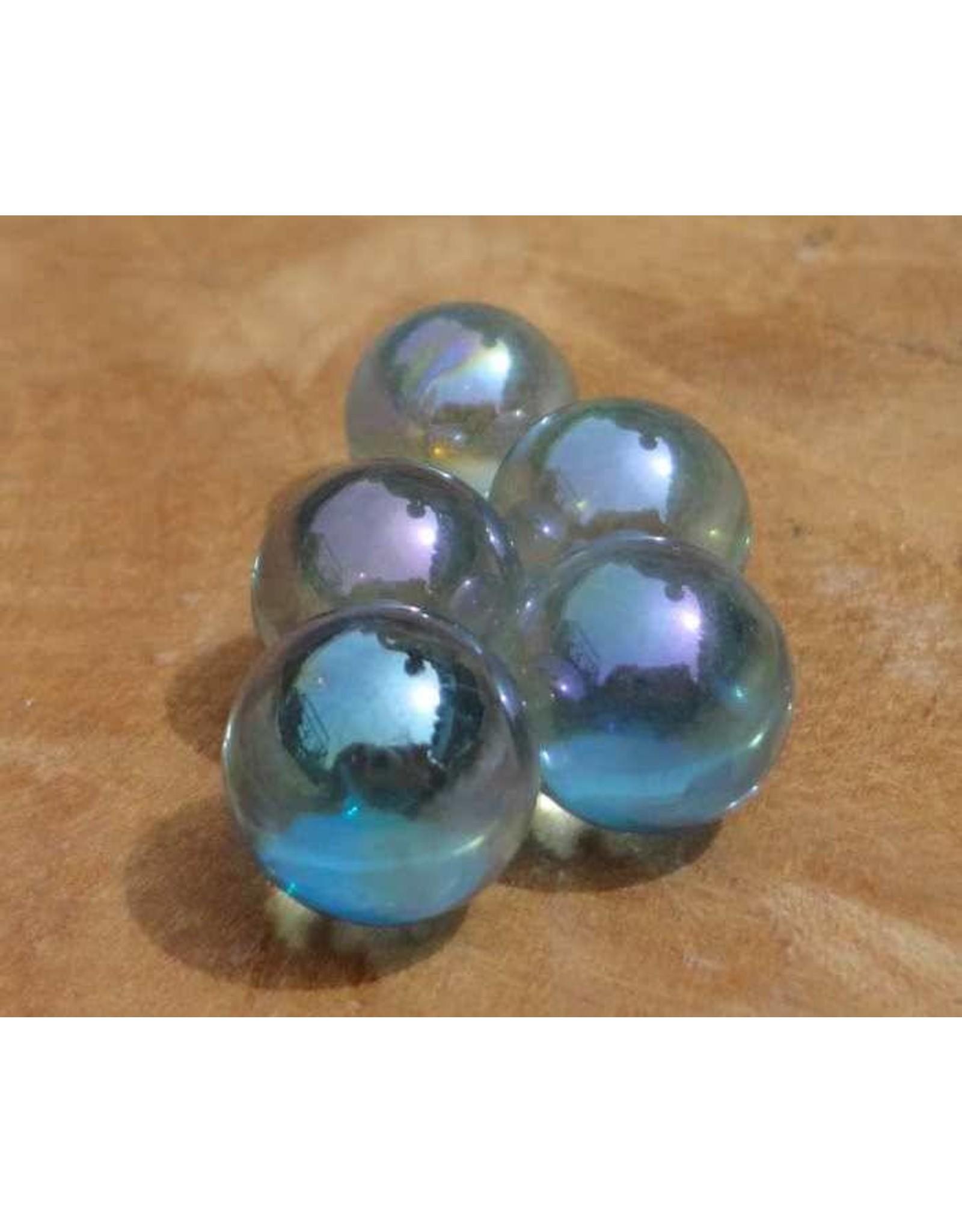 Interchangeable gemstone Aqua Aura 12 mm