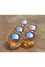 Interchangeable gemstone Golden Aura 12 mm
